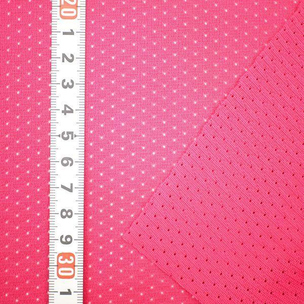 ニット生地 撥水スプラッシュメッシュ ローズピンク 「雨上がり用犬服、グッズ類向け」 knit-yamanokko 03