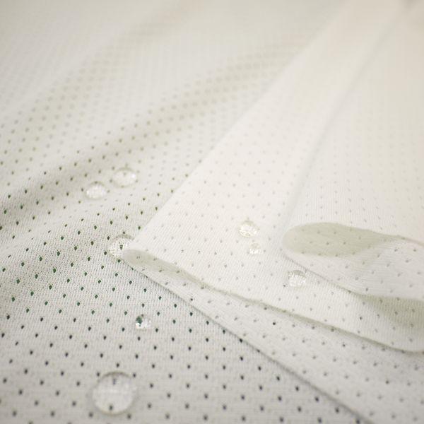 ニット生地 撥水スプラッシュメッシュ ホワイト 「雨上がり用犬服、グッズ類向け」|knit-yamanokko|02