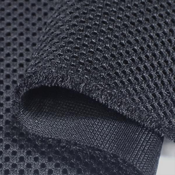 耐久クッション ダブルラッセルメッシュ ブラック 4〜5mm厚ハードタイプ150cm巾 ニット生地|knit-yamanokko