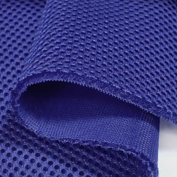 耐久クッション ダブルラッセルメッシュ ブルー 4〜5mm厚ハードタイプ150cm巾 ニット生地|knit-yamanokko