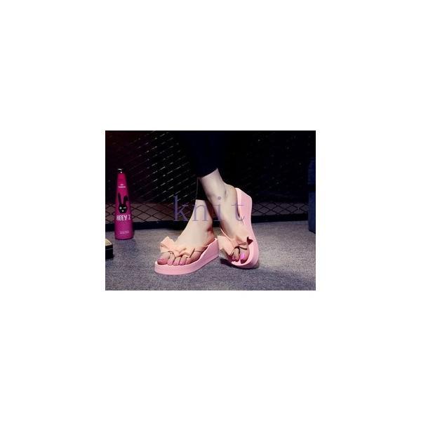 ビーチサンダル 美脚 サンダル ミュール スリッパ 海 リゾート 靴 シューズ レディース トングサンダル 旅行 可愛い 厚底JYYC-AL391