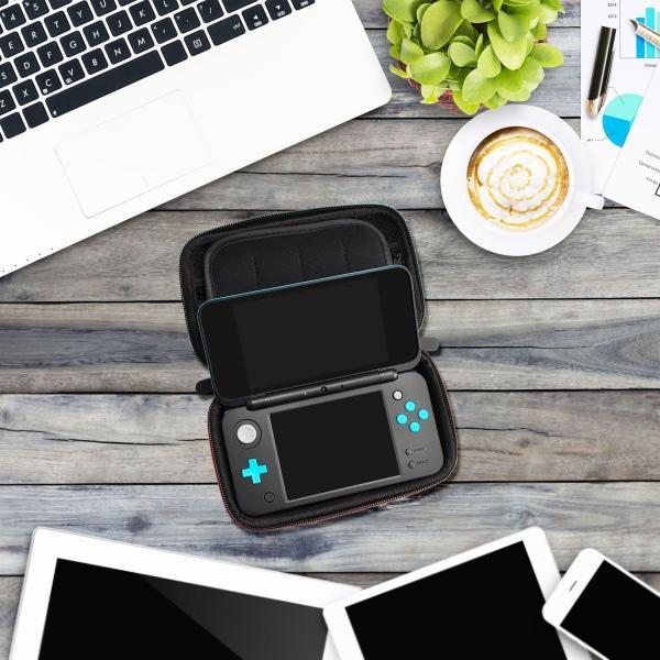 任天堂 Nintendo ニンテンドー スイッチ switch 用 キャリング ケース セミ ハードケース カーボン ポーチ 収納|knit|04