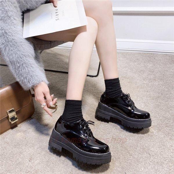 ローファーレディース靴パンプスローヒールシューズフォーマル通学通勤女子学生厚底婦人ハイヒールシンプルおしゃれ6.5cm