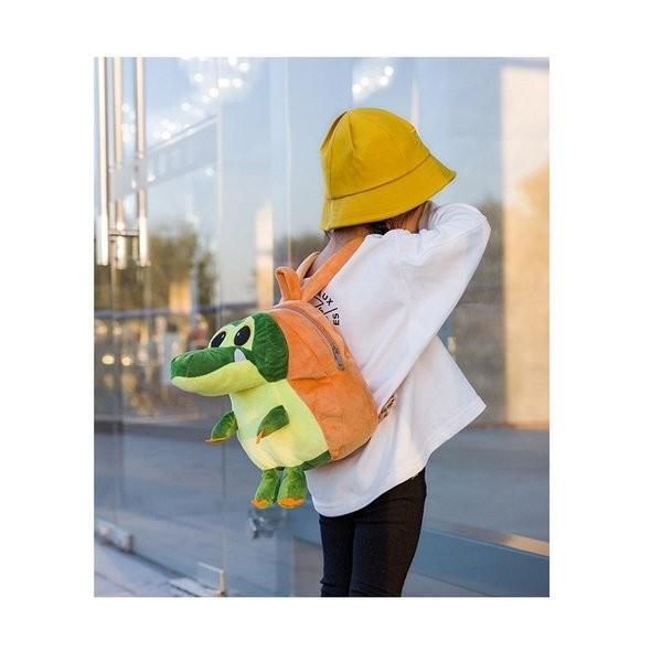 ベビーキッズわにリュックぬいぐるみファスナー仕様アジャスター青¥/赤¥/ピンク¥/グリーン¥/イエロー¥/5色一升餅サイズ|knit|16