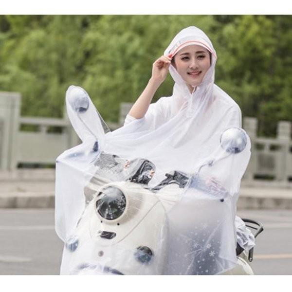 レインポンチョレインコートドット柄大人レディースつば広フード付き撥水通勤通学自転車カッパ雨雨具防水|knit|09