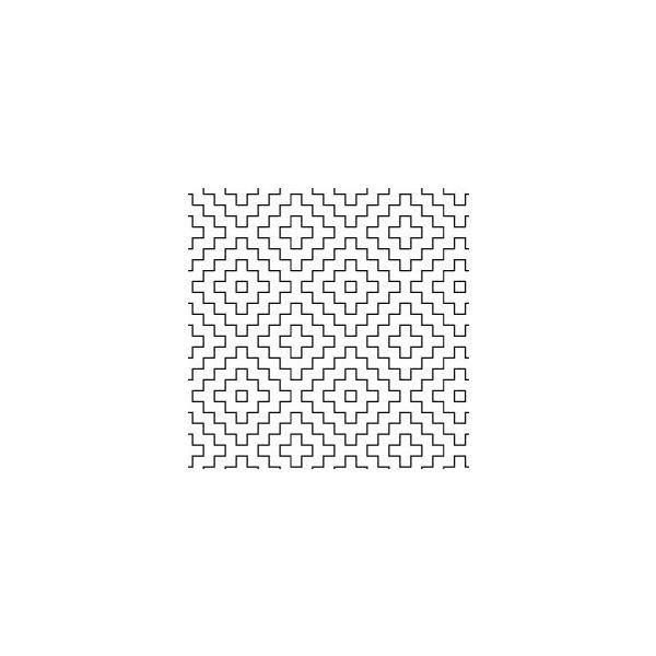 オリムパス 刺し子 花ふきん 布パック 柿の花 白(糸別売り)