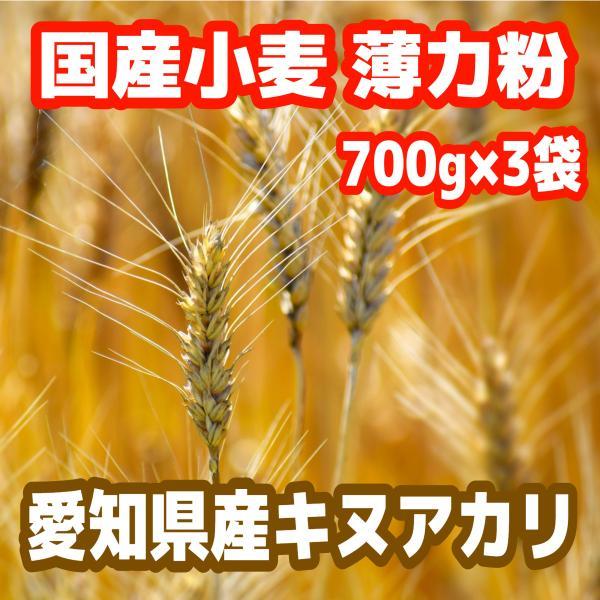 薄力粉 愛知県産キヌアカリ100% 700g×3袋