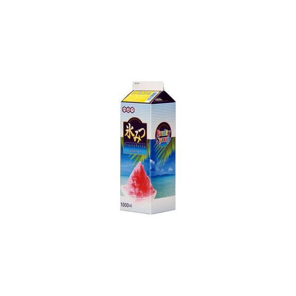かき氷シロップ-レモン-天然色素果汁入り、合成甘味料保存料不添加、1000mL_ハニー製