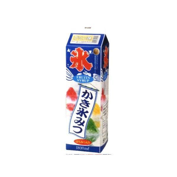 かき氷シロップ-プリン-合成甘味料保存料不添加、1800mL_蜜元研究所製