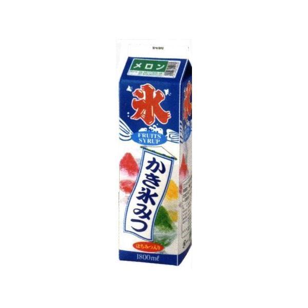かき氷シロップ-メロン-合成甘味料保存料不添加、1800mL_蜜元研究所製