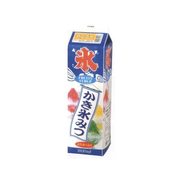 かき氷シロップ-マンゴー-合成甘味料保存料不添加、1800mL_蜜元研究所製