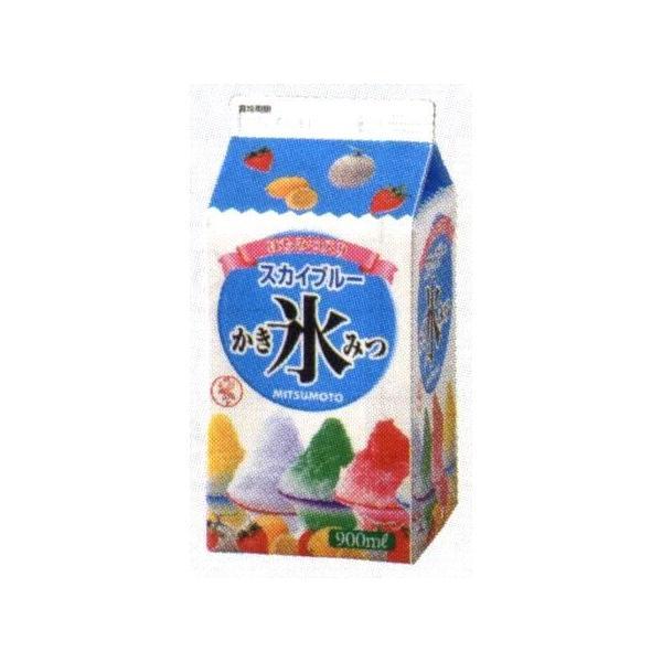 かき氷シロップ-スカイブルー-合成甘味料保存料不添加、900mL_蜜元研究所製