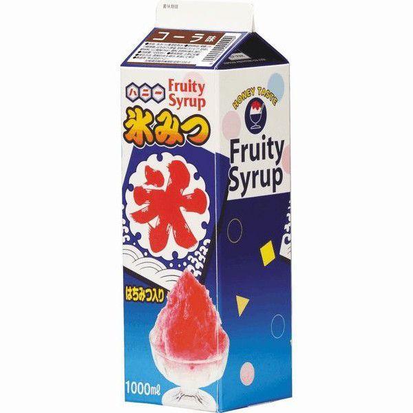 かき氷シロップ-コーラ-合成甘味料保存料不添加、1000mL_ハニー製