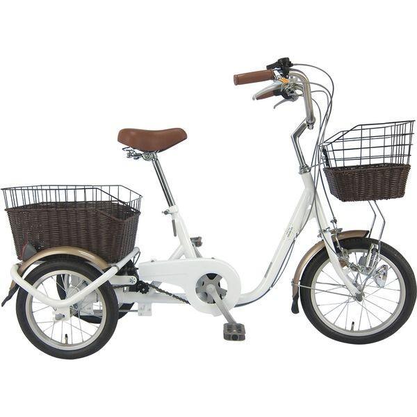 ミムゴ ロータイプ三輪自転車 ホワイト 型式MG-TRE16G SWING CHARLIE メーカー直送品 代引き不可|ko-te-ya