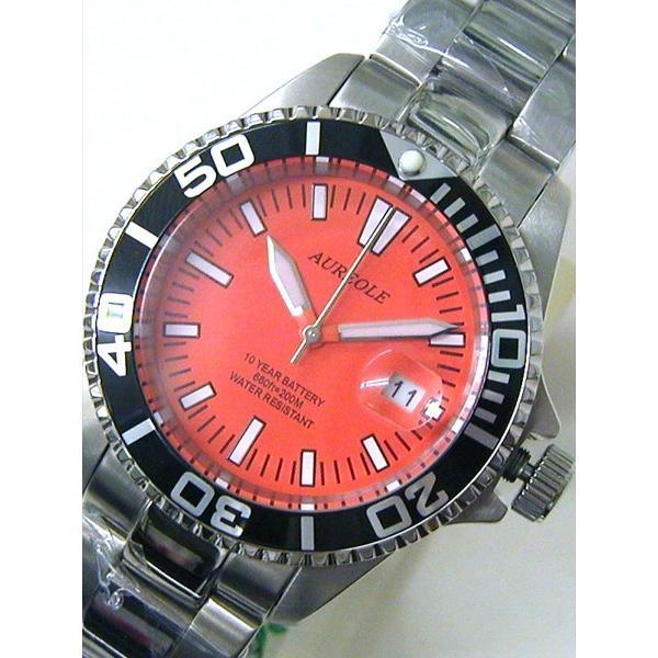 オレオール 20気圧スポーツ防水 シンプル 腕時計 オレンジ(新品)SW416M-A3|kobe-asahiya