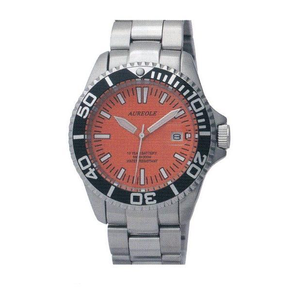 オレオール 20気圧スポーツ防水 シンプル 腕時計 オレンジ(新品)SW416M-A3|kobe-asahiya|02