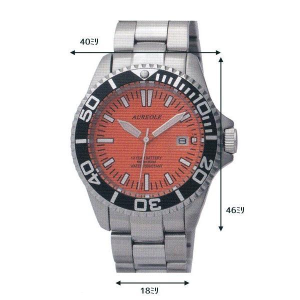 オレオール 20気圧スポーツ防水 シンプル 腕時計 オレンジ(新品)SW416M-A3|kobe-asahiya|05