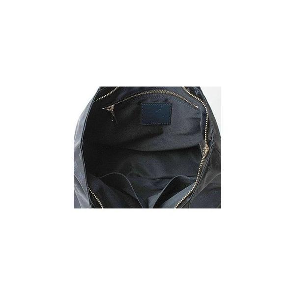 上品なジャガード生地で作ったシンプルファスナー付トートバッグ/ブラック