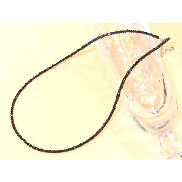 きらり輝く ブラックスピネル ネックレス ギフト プレゼント 数珠 念珠 天然石 ジュエリー