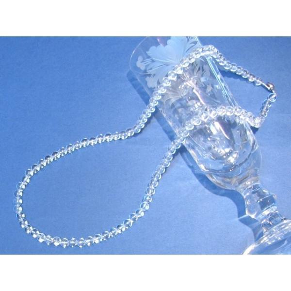 AAAグレード 美しく光る直径6mmの水晶ネックレス 60cm 4月 誕生石 クリスタル クオーツ クウォーツ 数珠 純粋 神秘 ヒマラヤ 玻璃 石英 双晶