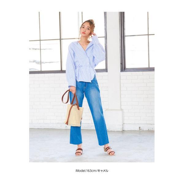 バッグ レディース 鞄 カゴ バケツ ショルダー 巾着 配色メッシュストローラウンドバッグ 異素材 カジュアル 30代 40代 B1233|kobelettuce|07