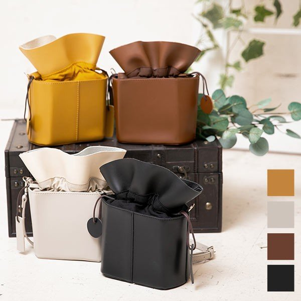バッグ 鞄 ショルダーバッグ 巾着バッグ 巾着 コンパクト B1288|kobelettuce