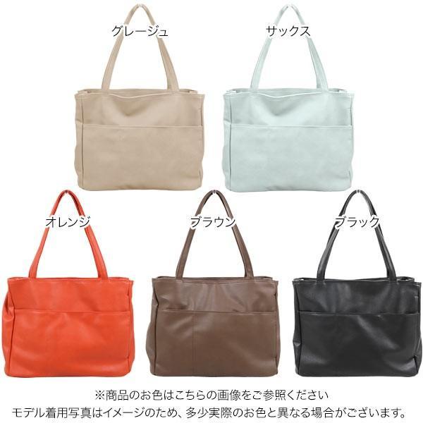 トートバッグ バッグ レディース ポケット A4サイズ対応 鞄 大容量 肩掛け 通勤 B1344送料無料|kobelettuce|02