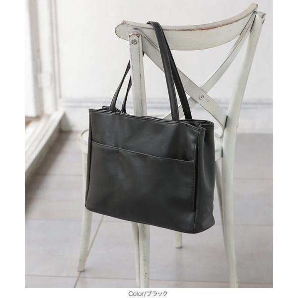 トートバッグ バッグ レディース ポケット A4サイズ対応 鞄 大容量 肩掛け 通勤 B1344送料無料|kobelettuce|10