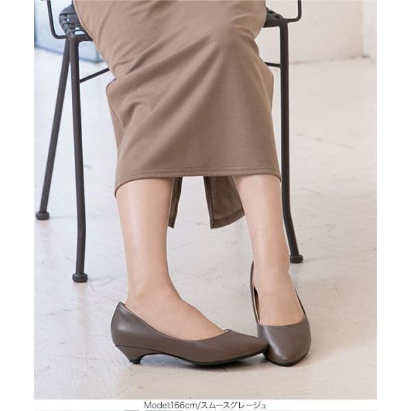 パンプス 機能性 レディース シューズ 痛くなりにくい トリプルクッション 3cmヒール ラウンドトゥ 40代 歩きやすい I1600|kobelettuce|15