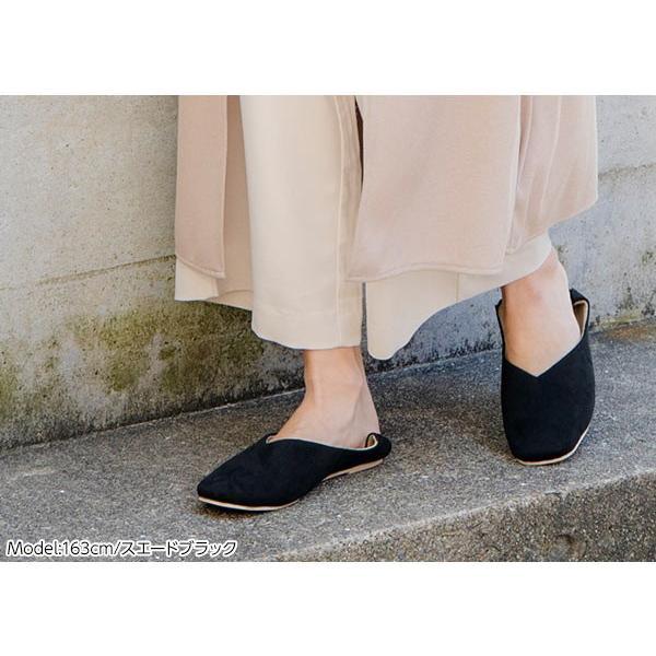 バブーシュ レディース スクエアトゥ2wayバブーシュ 靴 シューズ パンプス フラットパンプス I1755|kobelettuce|14
