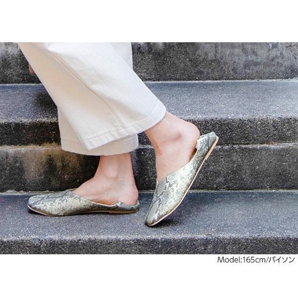 バブーシュ レディース スクエアトゥ2wayバブーシュ 靴 シューズ パンプス フラットパンプス I1755|kobelettuce|16