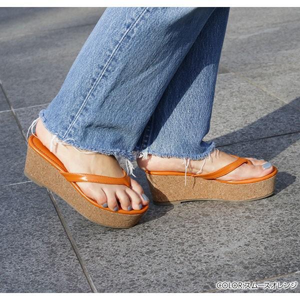サンダル ウェッジソール トングサンダル シューズ コルクウェッジソール  レディース 靴 歩きやすい タウンシューズ I1861 kobelettuce 06