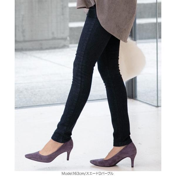 パンプス レディース シューズ 靴 秋 冬 きれいめ ピンヒール ポインテッドトゥ I1952|kobelettuce|11