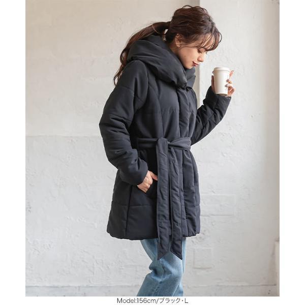 アウター ジャケット コート 中綿コート ダウン レディース ロング 秋冬 通勤 オフィス ダウンコート K514|kobelettuce|07