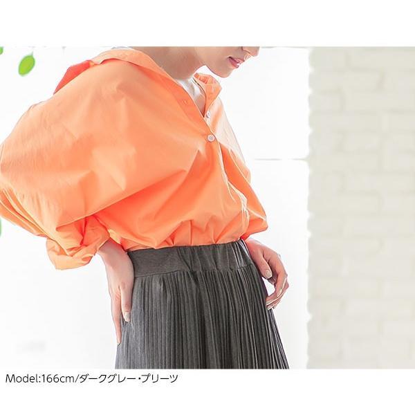 セール☆スカート プリーツ プリーツスカート 2TYPE ティアード ウエストゴム カットソー レディース ミディ丈 M2415|kobelettuce|11
