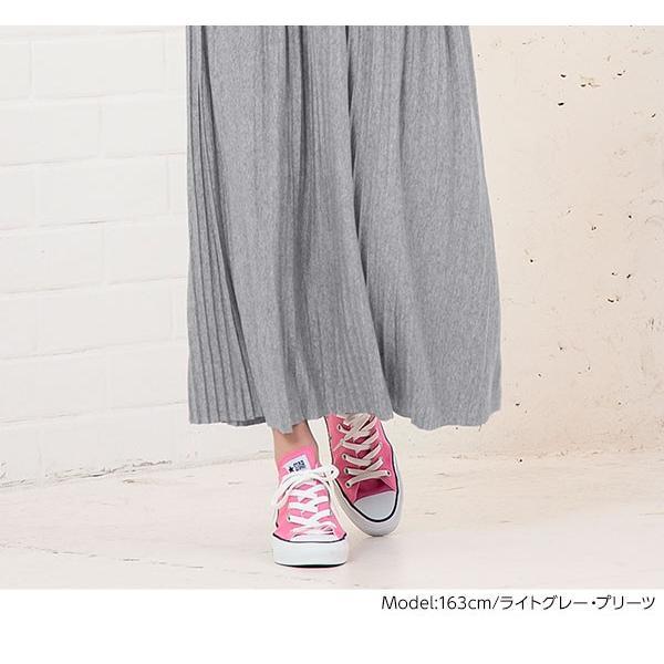 セール☆スカート プリーツ プリーツスカート 2TYPE ティアード ウエストゴム カットソー レディース ミディ丈 M2415|kobelettuce|16