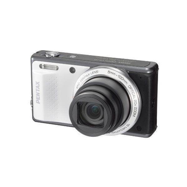 PENTAX デジタルカメラ Optio VS20(ブリリアントホワイト)1600万画素 28mm 20倍 小型軽量 OPTIOVS20WH
