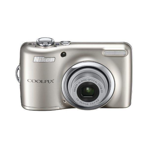 NikonデジタルカメラCOOLPIX L23 シルバー L23SL 1000万画素 広角28mm 光学5倍 2.7型液晶 単3電池対応