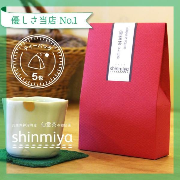 和紅茶 ティーバッグ 5包セット 仙霊茶 国産紅茶 無農薬 shinmiya シンミヤ 神河町|koccha-waccha