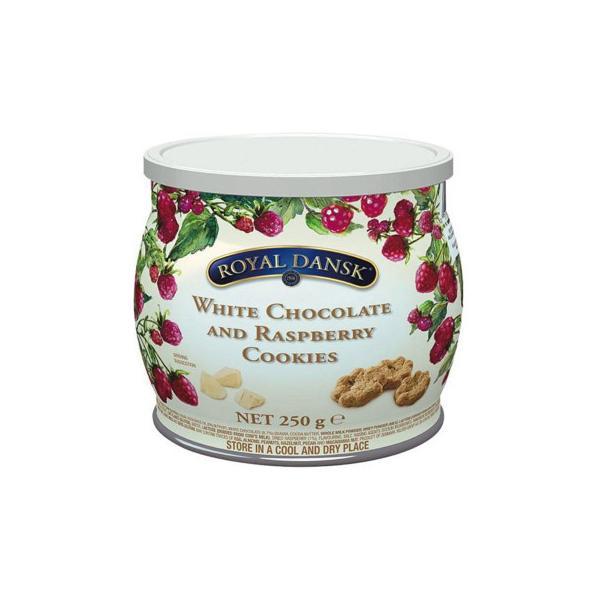 ロイヤルダンスク ホワイトチョコ&ラズベリークッキー 250g 12セット 011061 送料無料 同梱不可