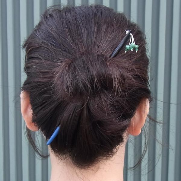 かんざしや とんぼ玉 かんざし ターコイズ 現品限り 1点もの 髪飾り ヘアアクセサリー kochi-bussan 03