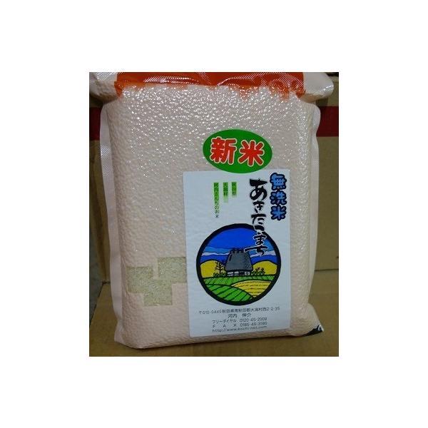【令和2年産新米】真空パックあきたこまち 無洗米 2kg  放射能・残留農薬不検出 農家産直の美味しい無洗米