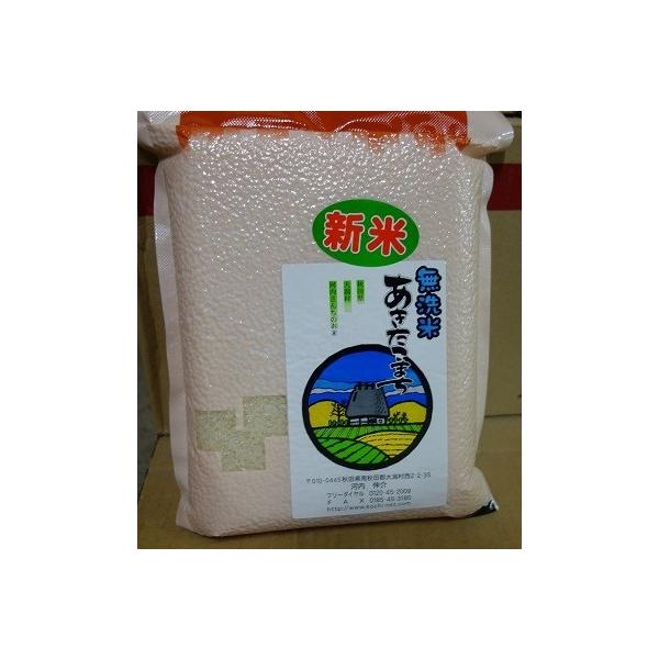 【令和3年産米】真空パックあきたこまち 無洗米 1kg  放射能・残留農薬不検出 農家産直の美味しい無洗米