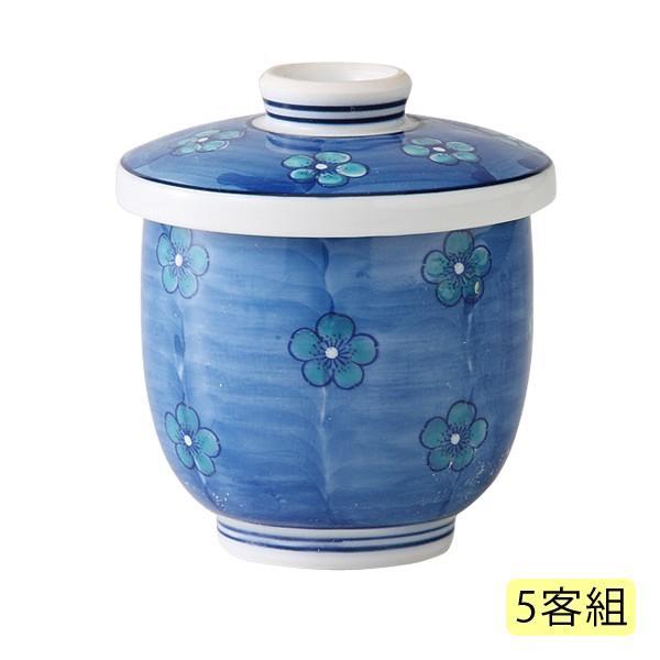 茶碗蒸し ちゃわんむし セット 少量 ちょこっと 日本製   濃錦梅 小むし碗 5客組 21330
