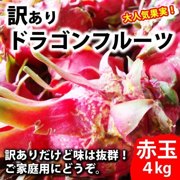 ご家庭用 訳ありドラゴンフルーツ赤玉4kg 送料無料 kodawariokinawa