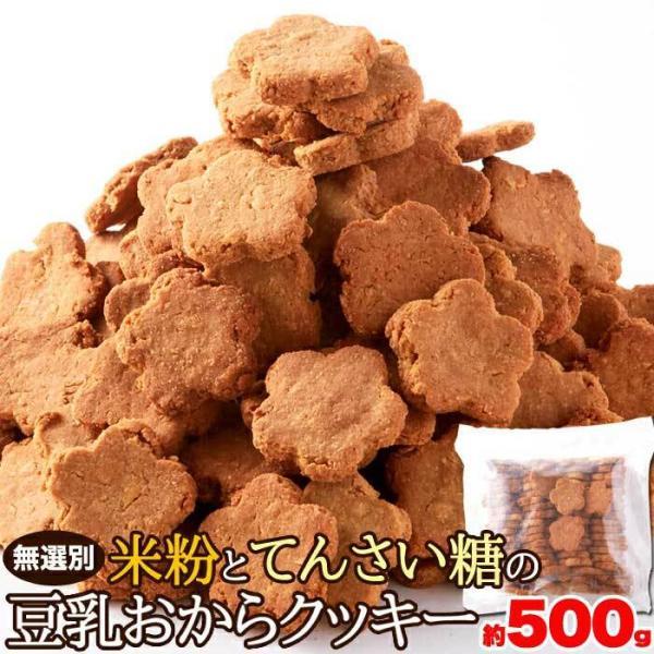 無選別 米粉とてんさい糖の豆乳おからクッキー 500g(送料無料)