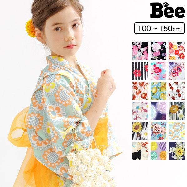 浴衣3点セット 韓国子供服 Bee カジュアル キッズ 女の子 セパレート キャミワンピ リボン レトロ 椿 ひまわり 簡単 夏 90cm 100cm 110cm 120cm 130cm 140cm|kodomofuku-bee