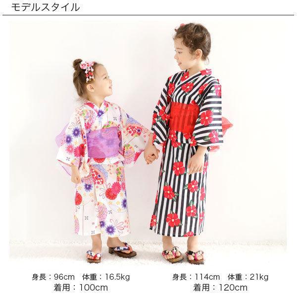 浴衣3点セット 韓国子供服 Bee カジュアル キッズ 女の子 セパレート キャミワンピ リボン レトロ 椿 ひまわり 簡単 夏 90cm 100cm 110cm 120cm 130cm 140cm|kodomofuku-bee|17
