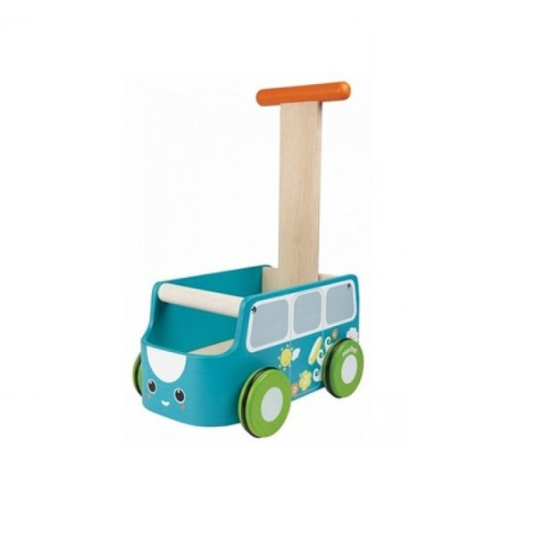 木のおもちゃ バンウォーカー ブルー 手押し車 お片付け おもちゃ箱 ベストセラー品 プラントイ 知育玩具