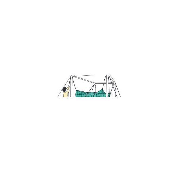 鵜沢ネット ホームゴルフネット GMタイプ 3×3×3m 色グリーン 組立簡単ネット吊り下げ式 日本製 ゴルフ練習|kodomor|06